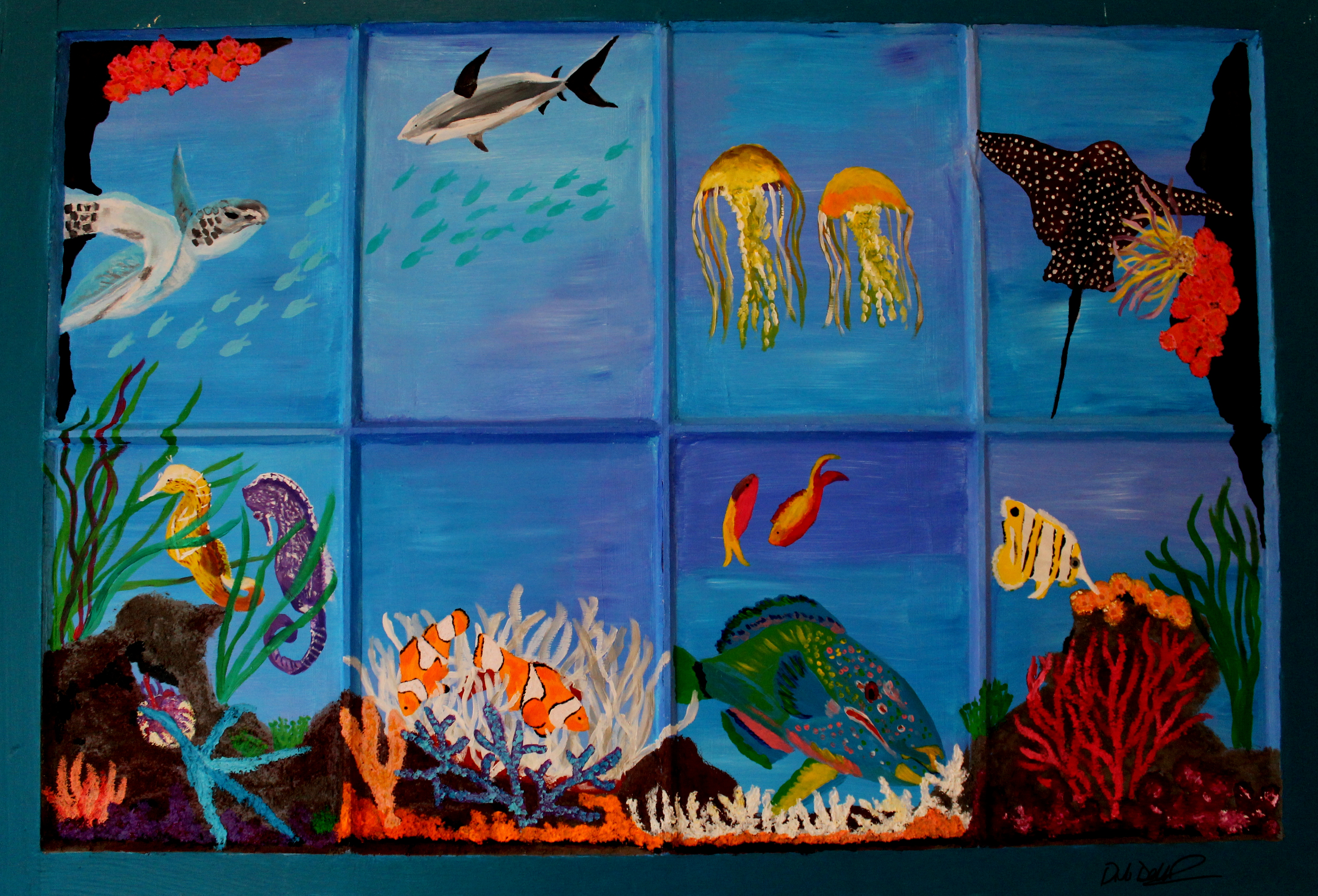 Underwater dellavision arts for Painting on glass windows with acrylics